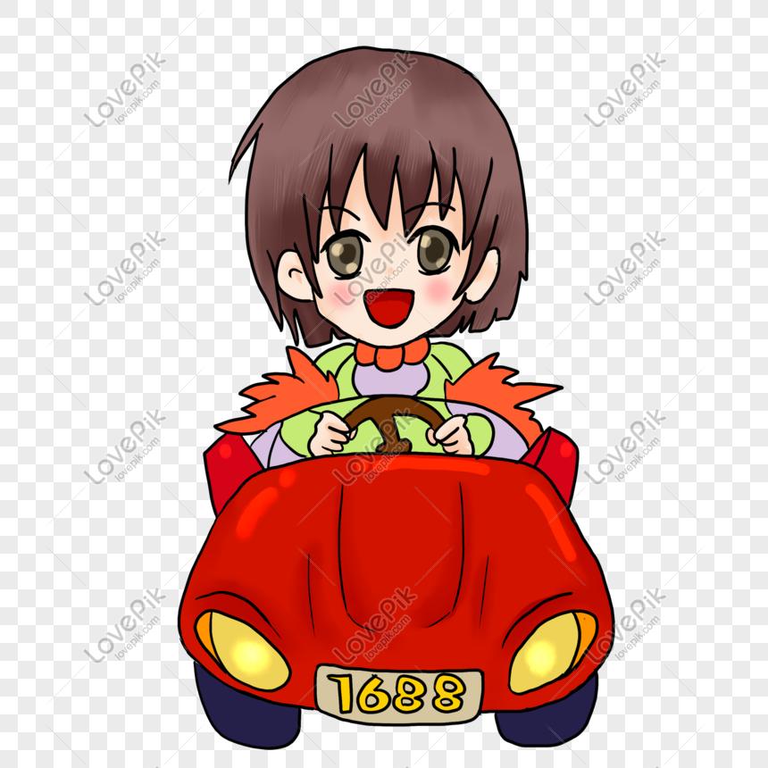 motoring girl png
