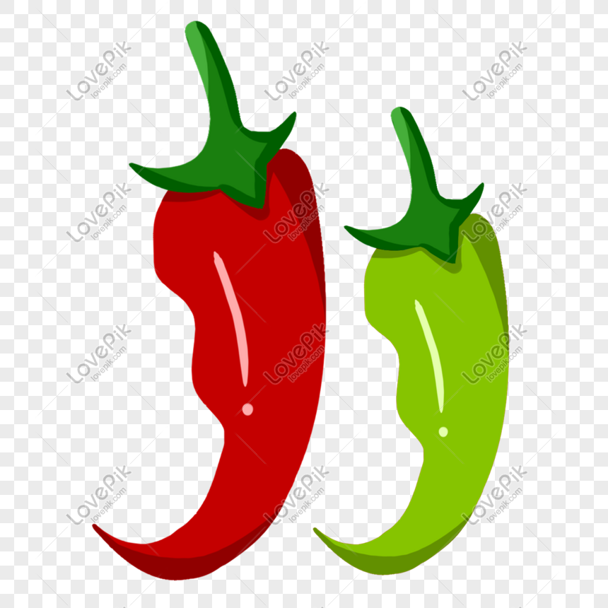 red pepper and green pepper png