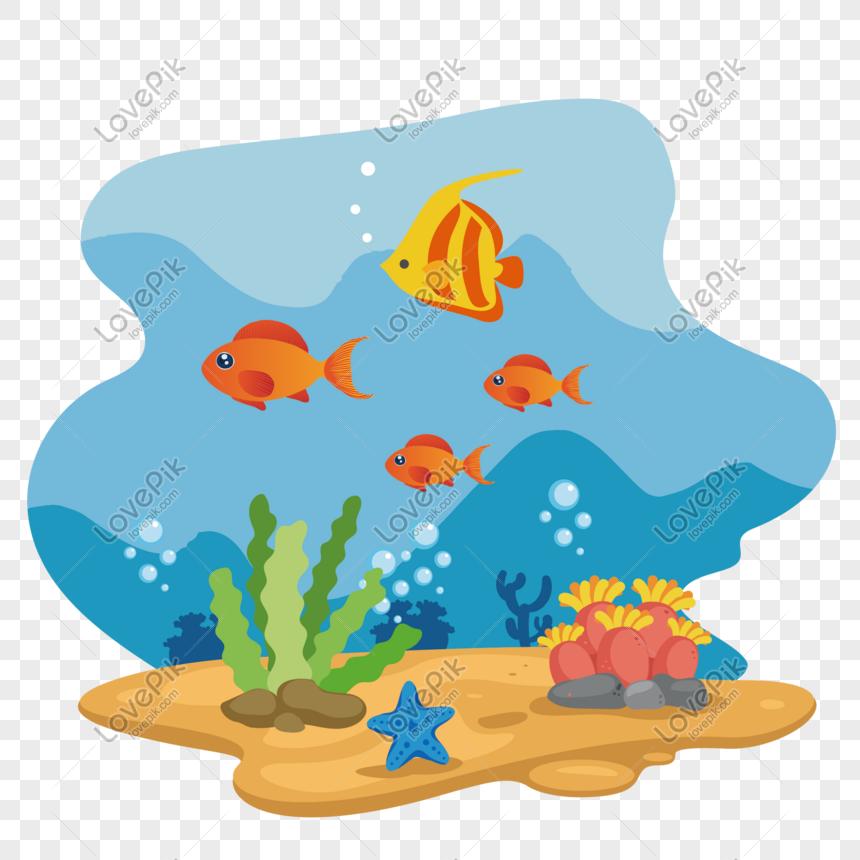 World ocean day underwater world vector material png