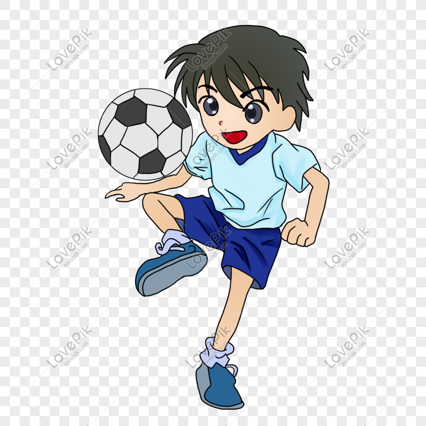 boy playing football png