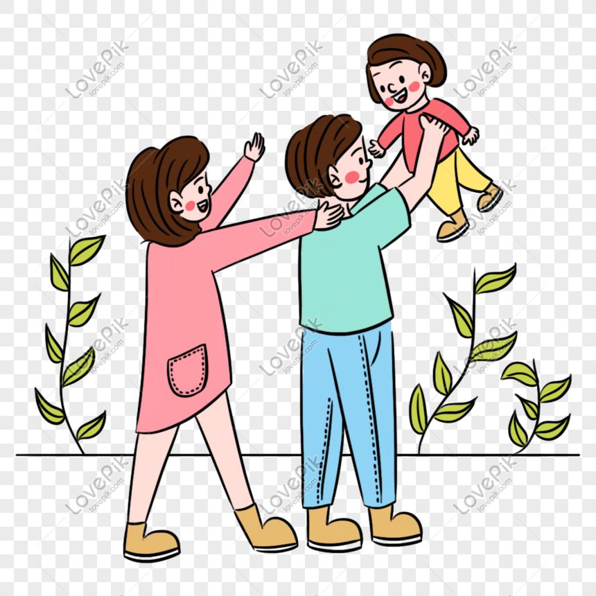 6000 Gambar Kartun Ayah Ibu Dan Anak HD