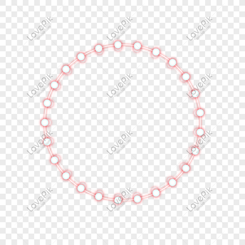 Round geometric border light effect png image_picture free