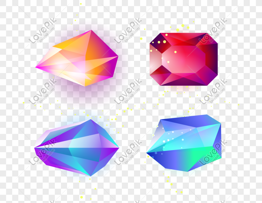 Colored glowing gemstone png image_picture free download
