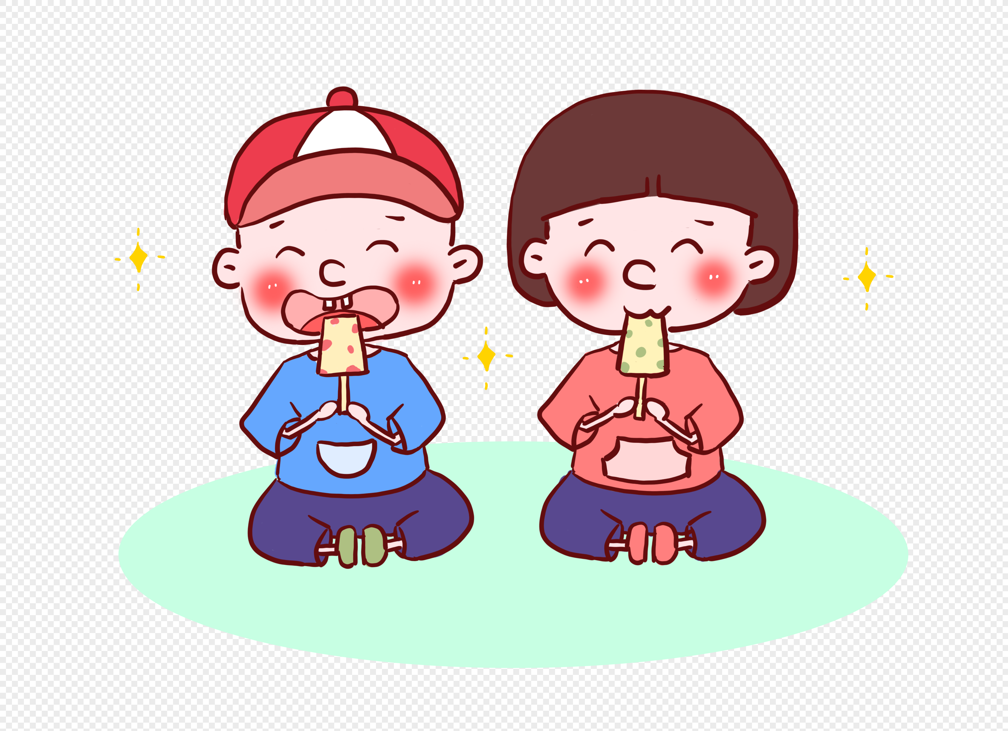 Child eating popsicle png image_picture free download ...