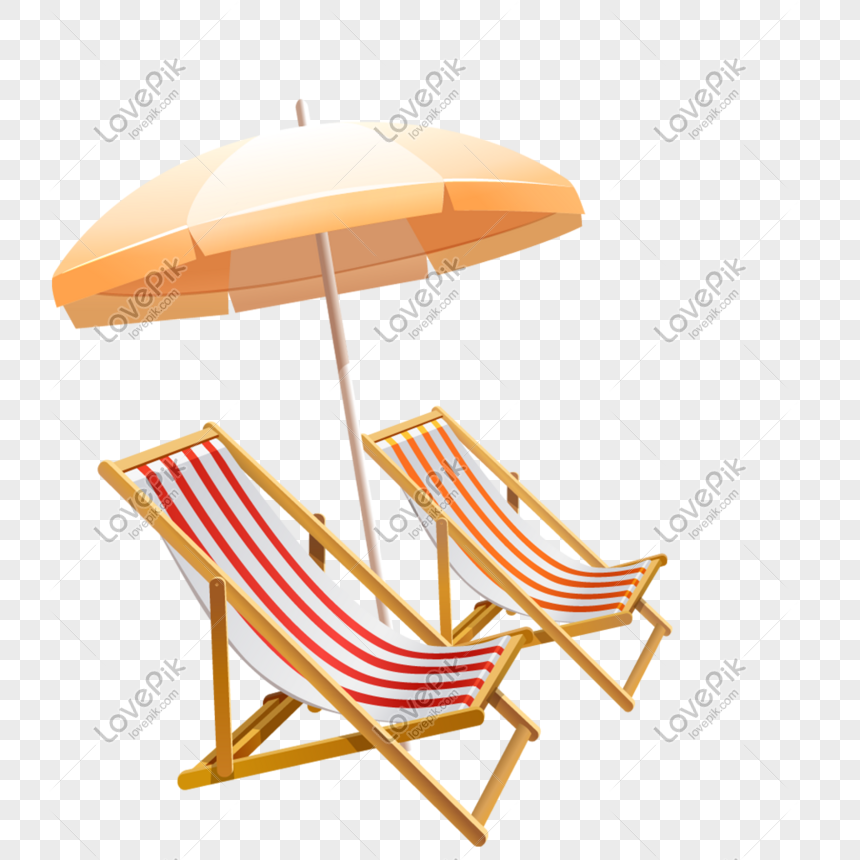 Sun Umbrella Beach Chair Png