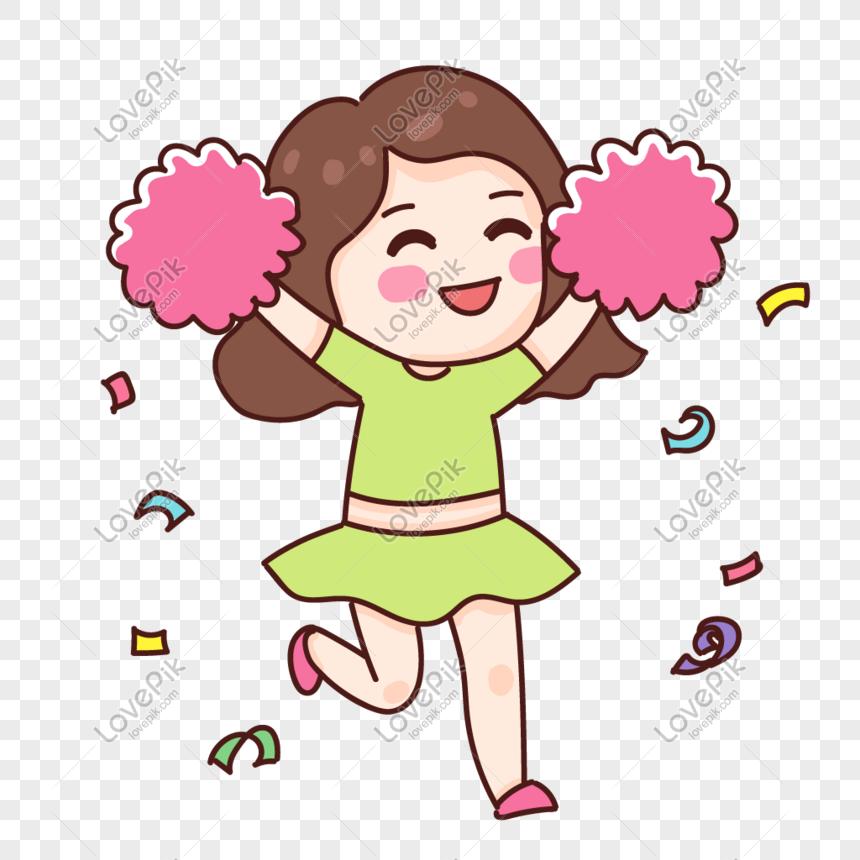 cheering girl png