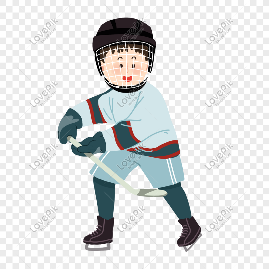 Playing Ice Hockey Cartoon Png Image Picture Free Download 401365083 Lovepik Com