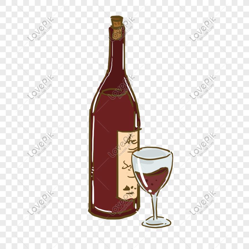 Gelas Alkohol Anggur Merah Gambar Unduh Gratis Grafik