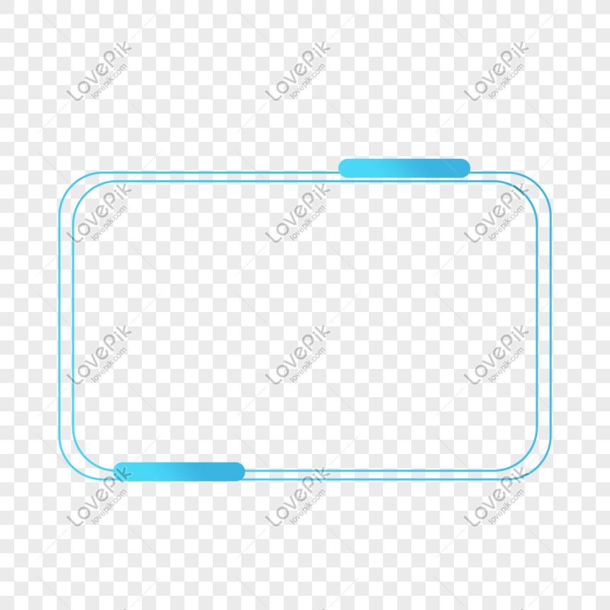 blue tech line border png