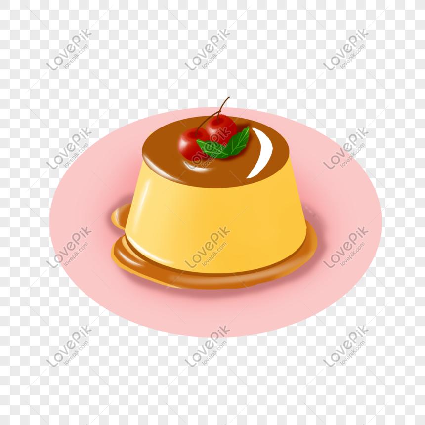 caramel pudding png
