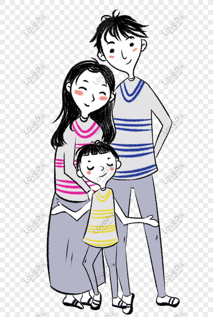 Gambar Kartun Keluarga Bahagia Hitam Putih Orion Gambar
