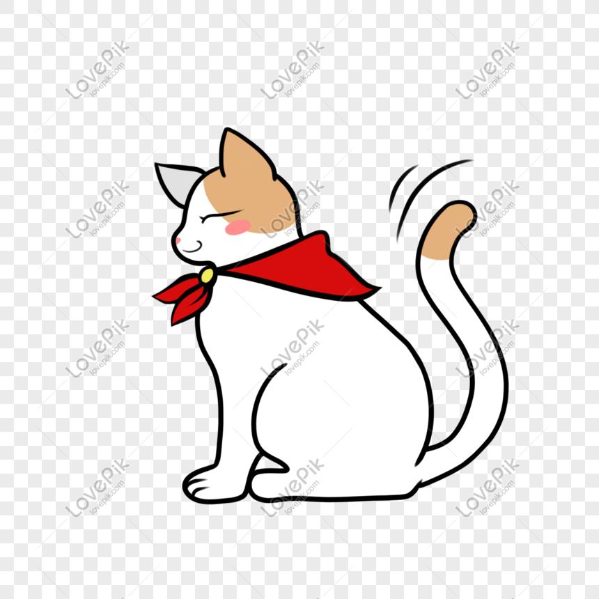 syal segitiga merah prestise ekor bergoyang kucing sombong png grafik gambar unduh gratis lovepik syal segitiga merah prestise ekor