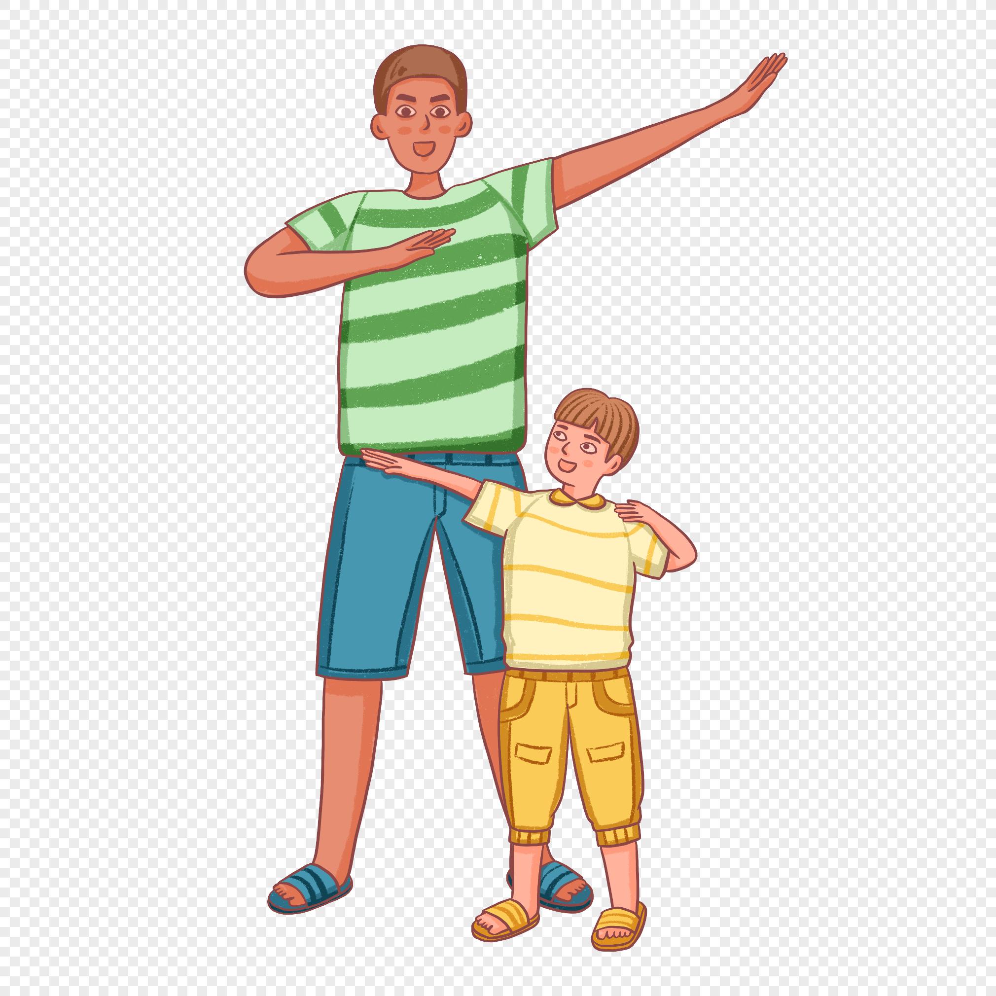 Мультяшная картинка отец и сын