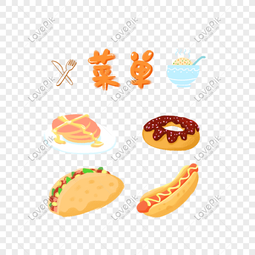 hand drawn menu png