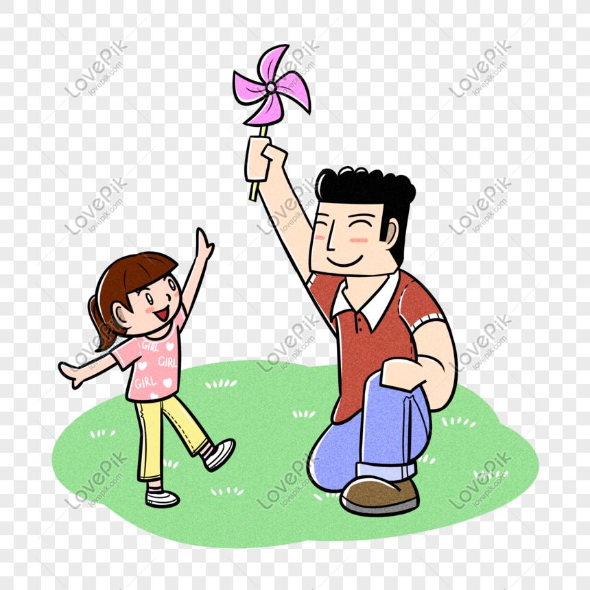 Ayah Dan Anak Perempuan Bapa Bermain Kincir Angin Gambar Unduh Gratis Imej 401398726 Format Psd My Lovepik Com