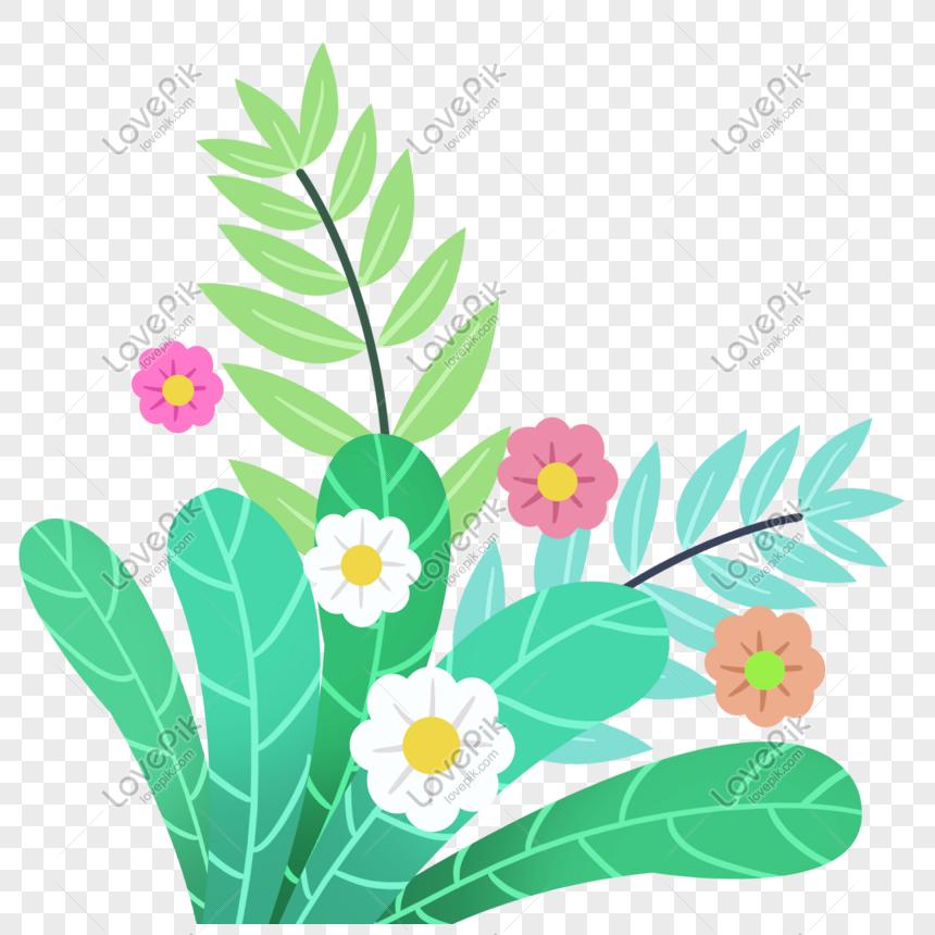 Gambar Ilustrasi Tanaman Bunga Kartun Ilustrasi Tanaman Bunga Musim Panas Png Grafik Gambar Unduh
