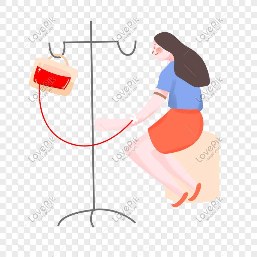 Blood donation day hand drawn characters png image_picture free