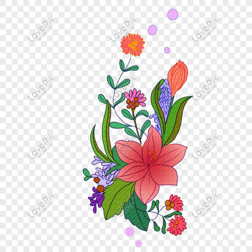 Bunga Bunga Indah Png Grafik Gambar Unduh Gratis Lovepik