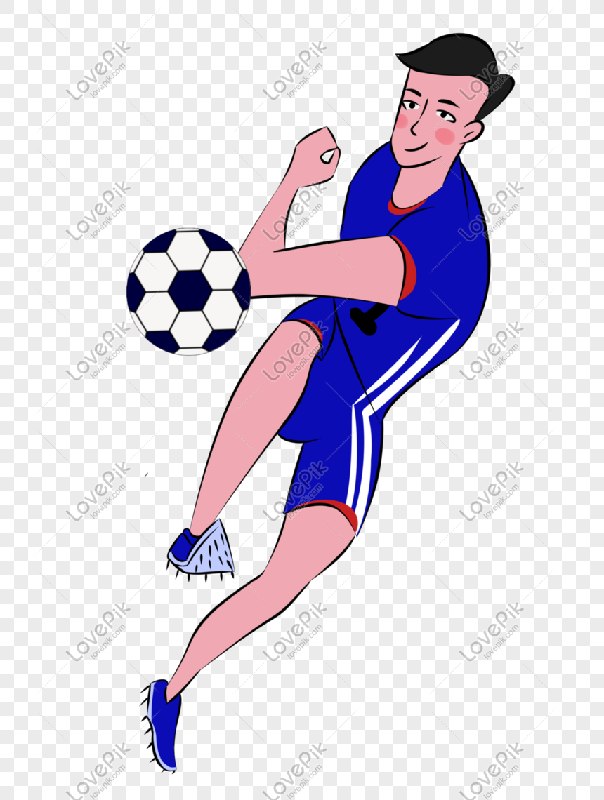 Elemen Kartun Pemain Bola Tangan Ditarik Tangan Gambar Unduh