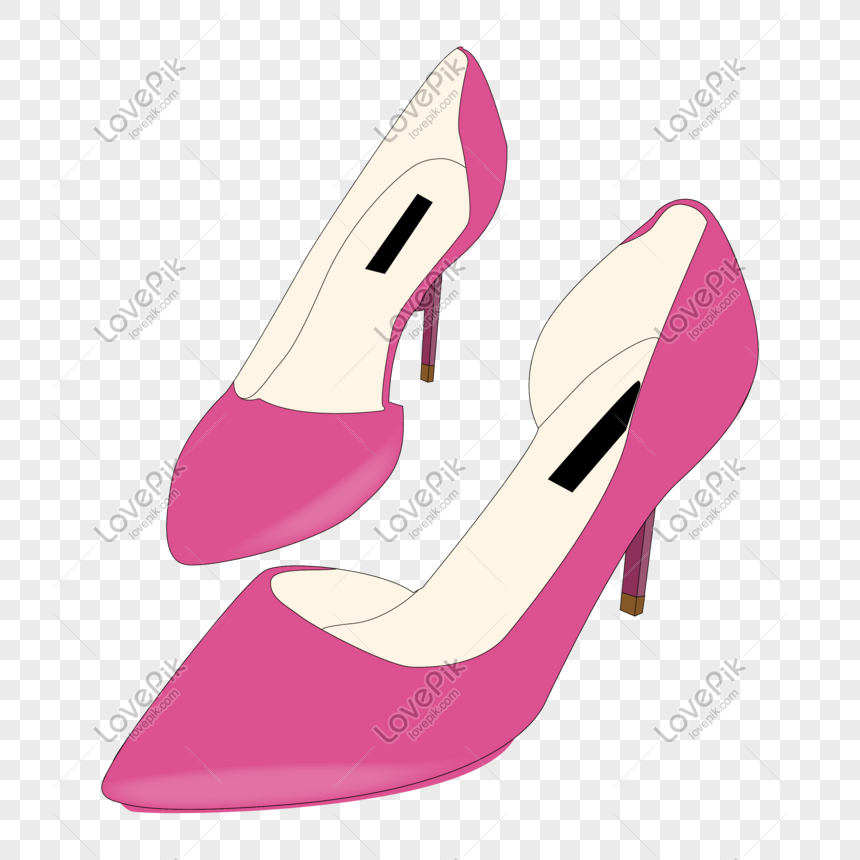 Cartoon Hand Painted Pink Ladies High Heels Png Images Picture Free Download Lovepik