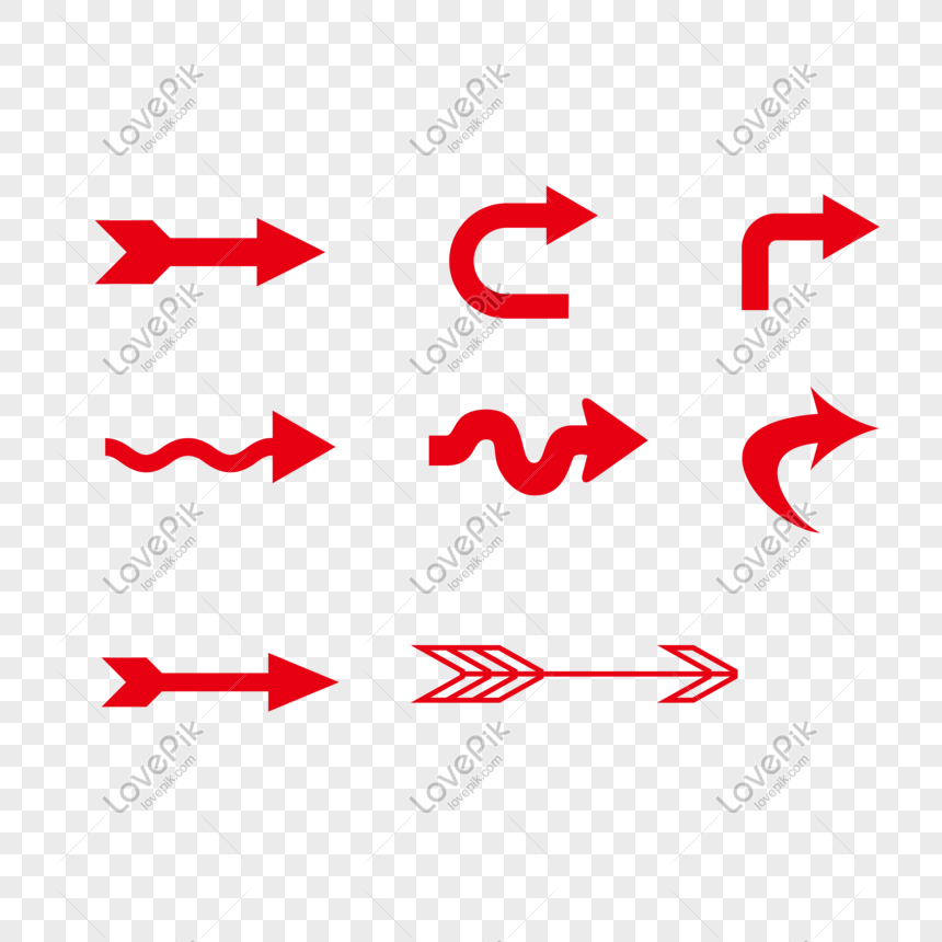 red arrow icon collection png