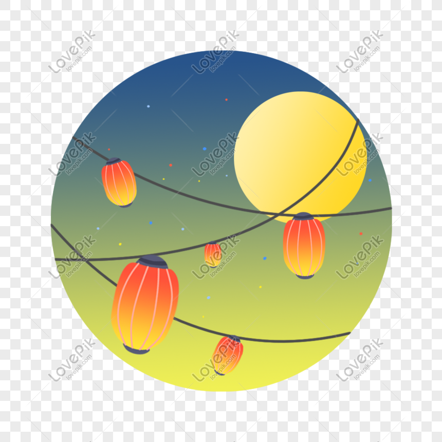 Mid-autumn festival moon lantern png image_picture free