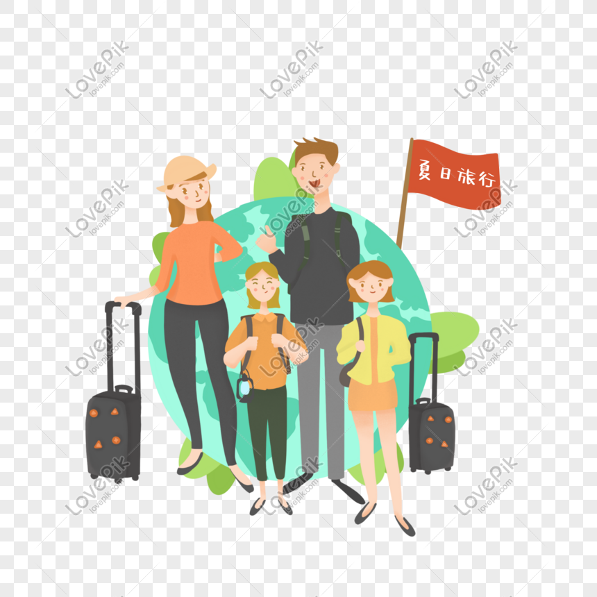 Summer Family Travel Around The World Png Image Picture Free Download 401412186 Lovepik Com