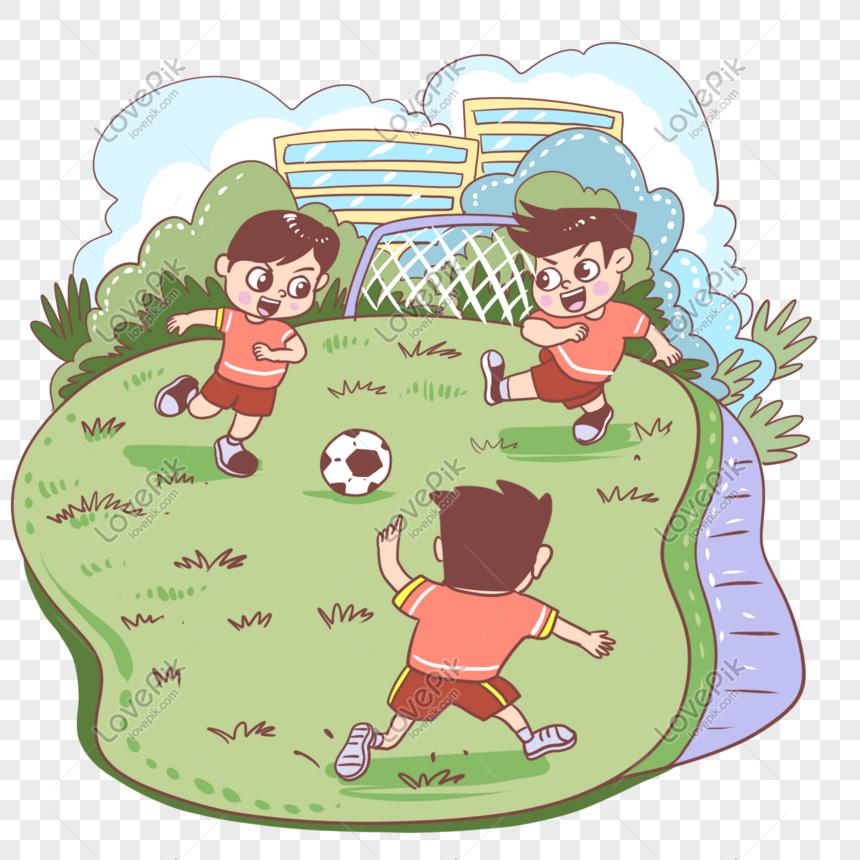 boy playing football png