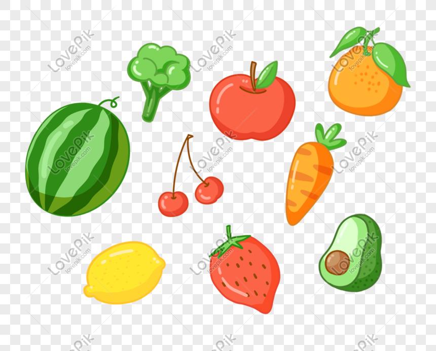 Version Q De Frutas Y Hortalizas Alimentos Verdes Saludables