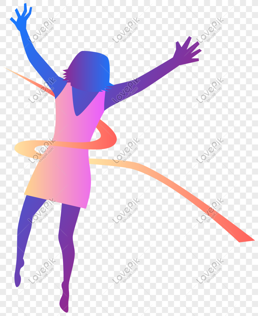 Ribbon Dancer Silhouette Png Image Picture Free Download 401428569 Lovepik Com