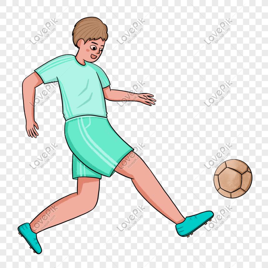 pemain sepak bola bermain sepak bola