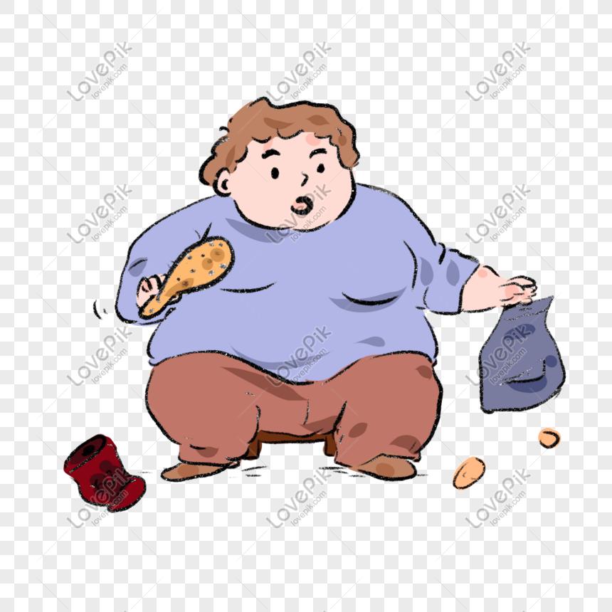 orang gemuk yang ditarik tangan makan berlebihan kartun png grafik gambar unduh gratis lovepik makan berlebihan kartun png grafik