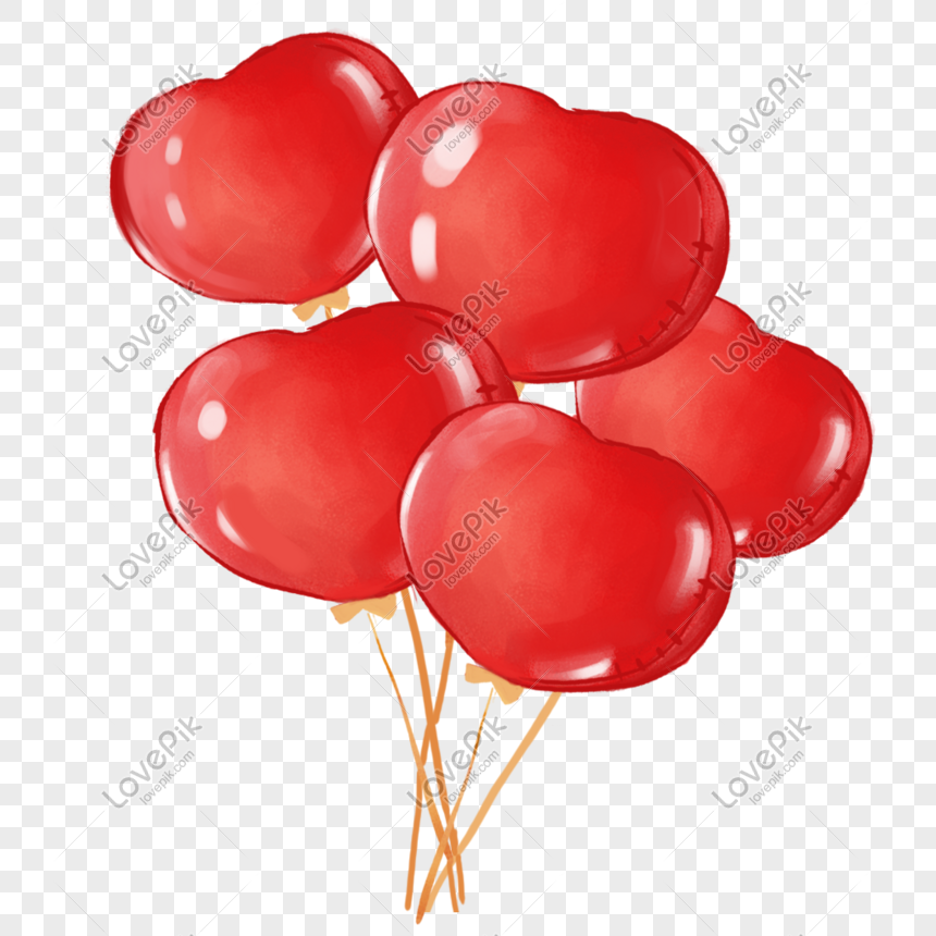 red heart balloon png