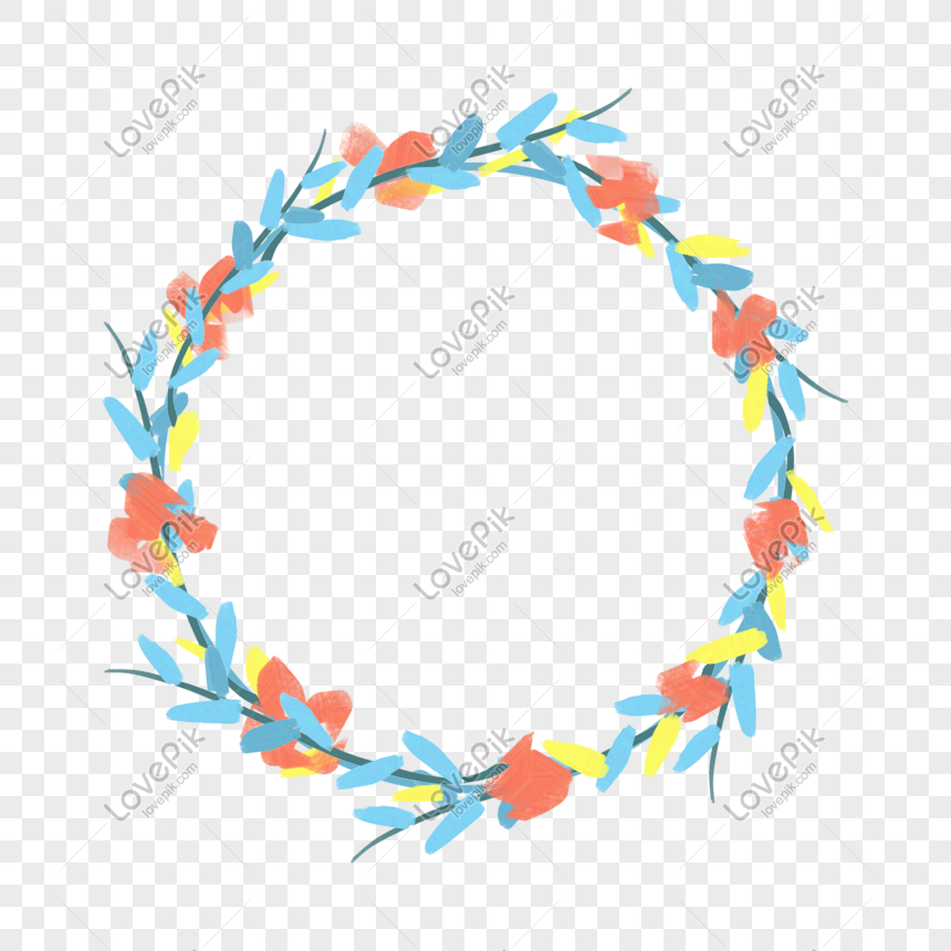 plant round frame png