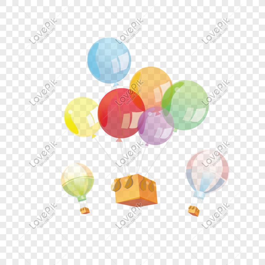 colored transparent balloons png