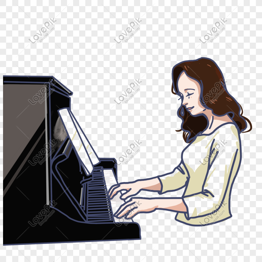 Man Playing piano Royalty Free Vector Image - VectorStock