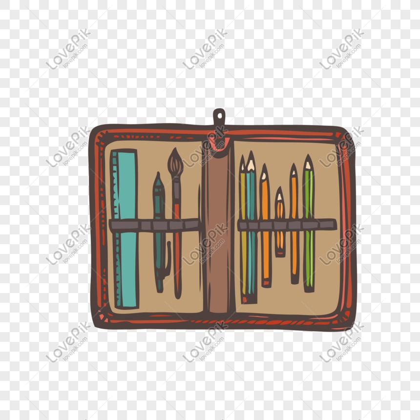 Hộp Bút Chì Màu Nâu Hình ảnh định Dạng Hình ảnh Ai