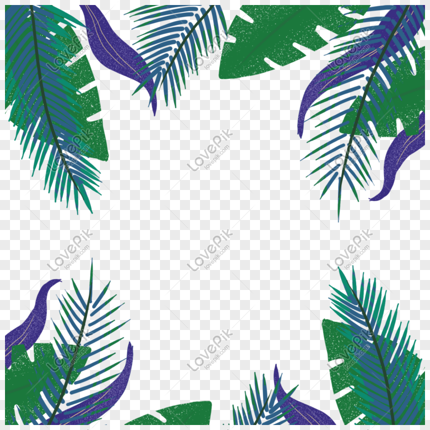 Summer Tropical Plant Leaves Border Png Image Picture Free Download 401456082 Lovepik Com Green leaf on white sand during daytime. summer tropical plant leaves border png