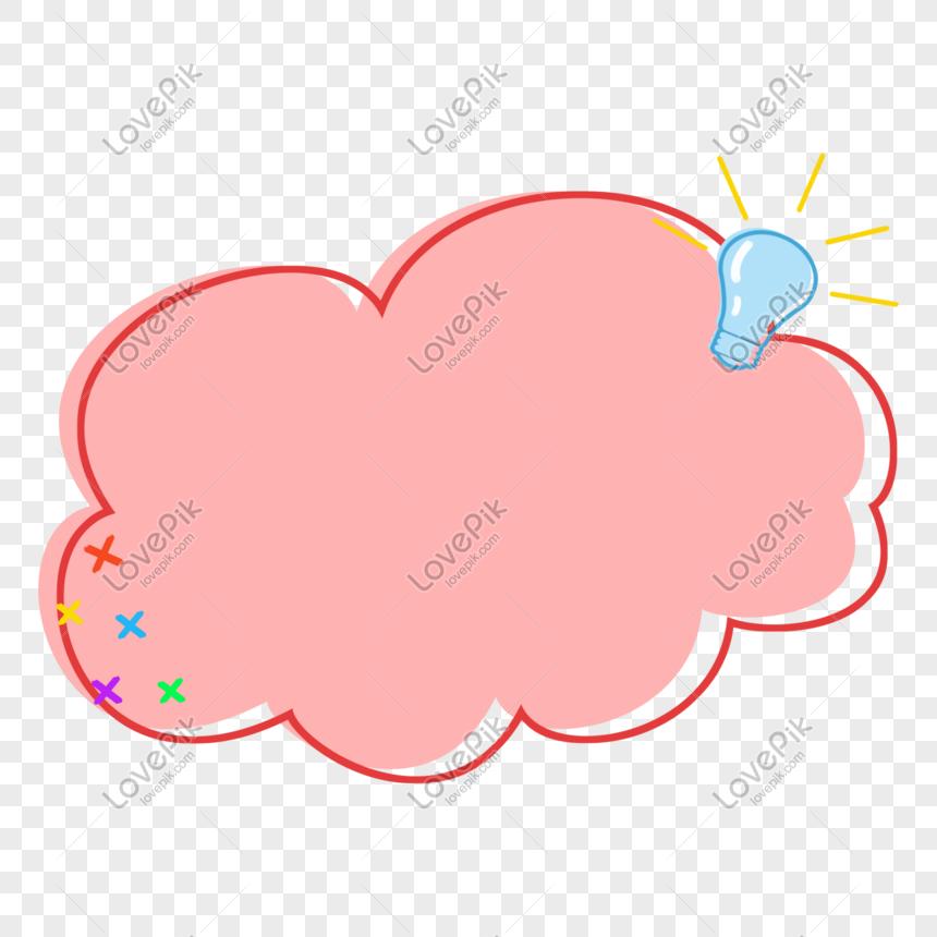 pink border dialog bubble png