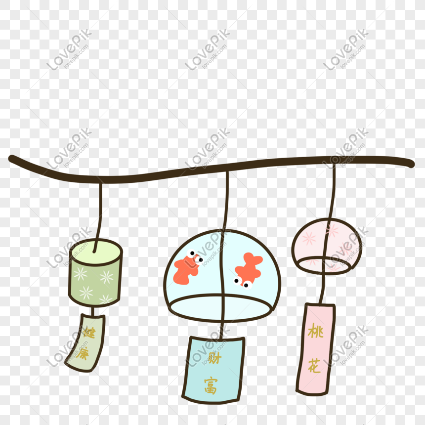 summer and wind chimes png