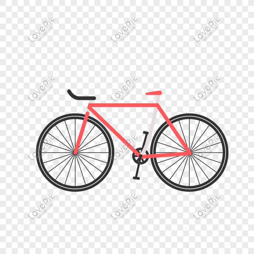 Bicicleta Roja De Dibujos Animados Imagen Descargar Prf