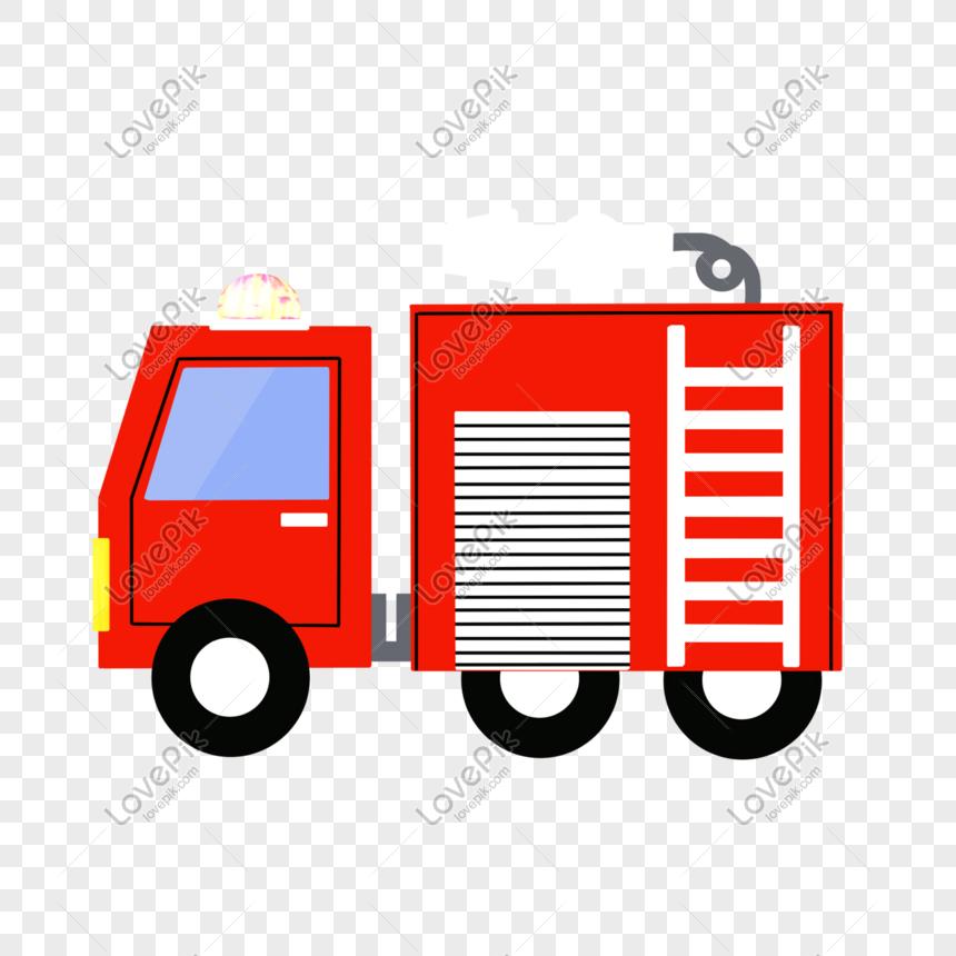 Camión De Bomberos De Dibujos Animados Imagen Descargarprf
