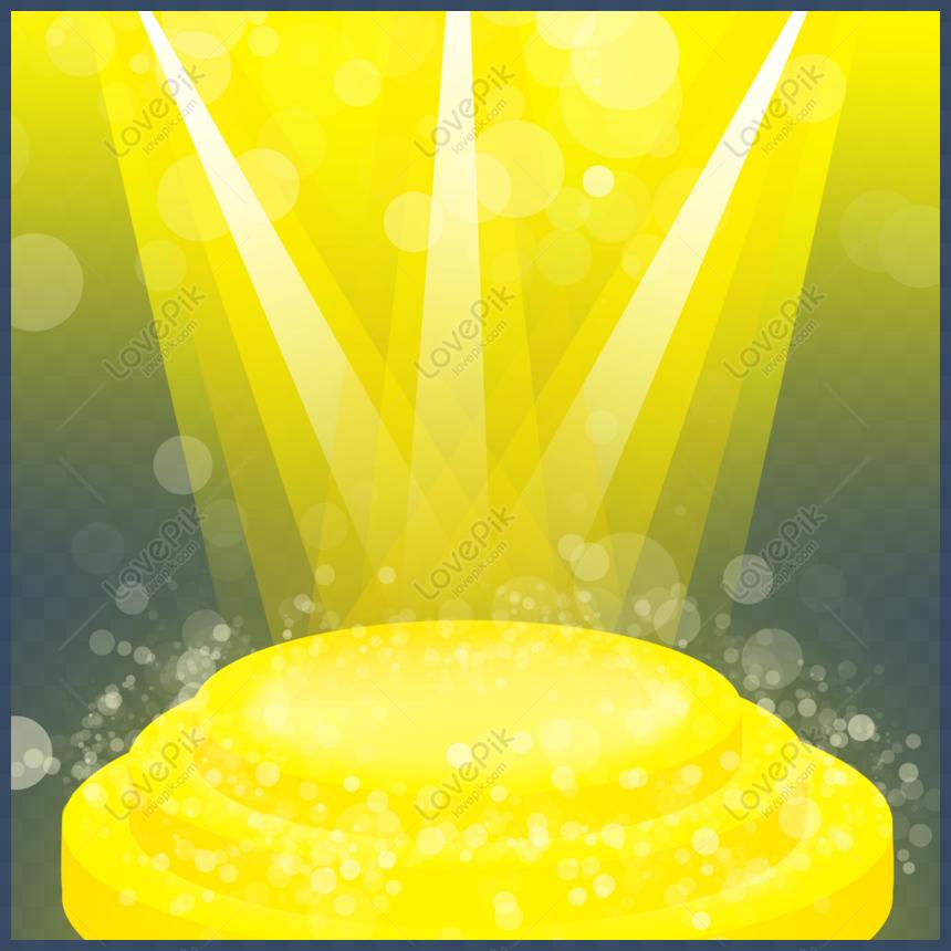 golden light yellow light stage light beam png