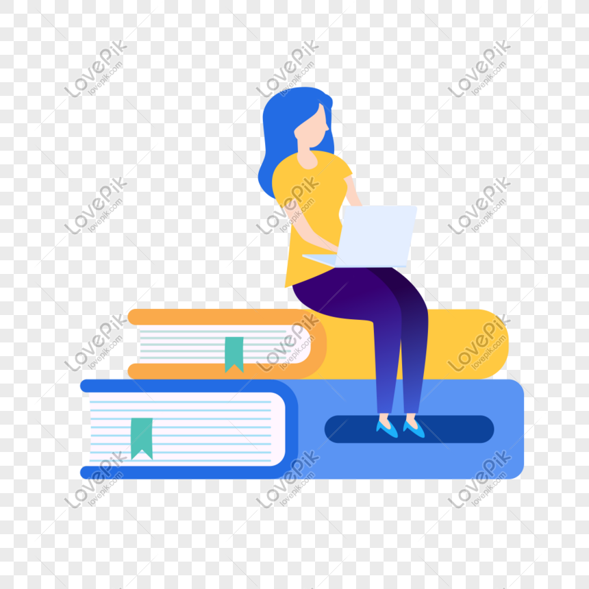 Woman Learning Icon On The Computer Free Vector Illustration Mat Png Image Picture Free Download 401473718 Lovepik Com