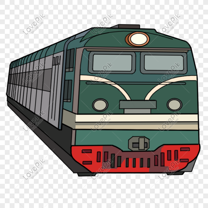 Gambar Kereta Api Kartun Berwarna Kereta Kulit Berwarna Hijau Kartun Png Grafik Gambar Unduh Gratis Lovepik