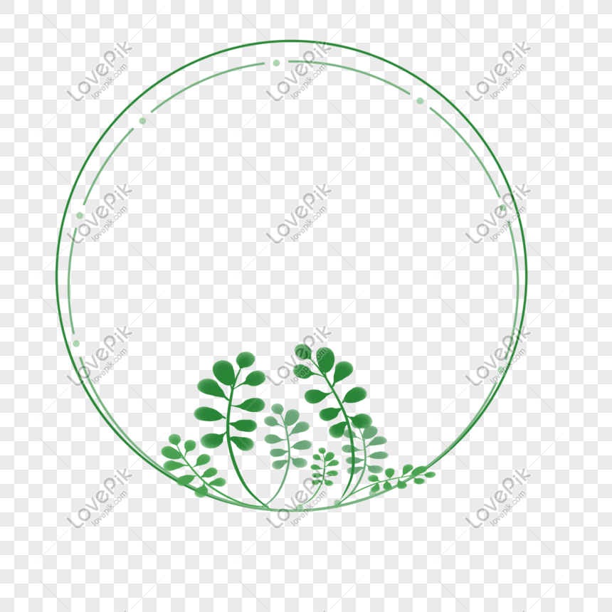 tangan dicat mori sederhana bingkai bulat tanaman hijau png grafik gambar unduh gratis lovepik tangan dicat mori sederhana bingkai
