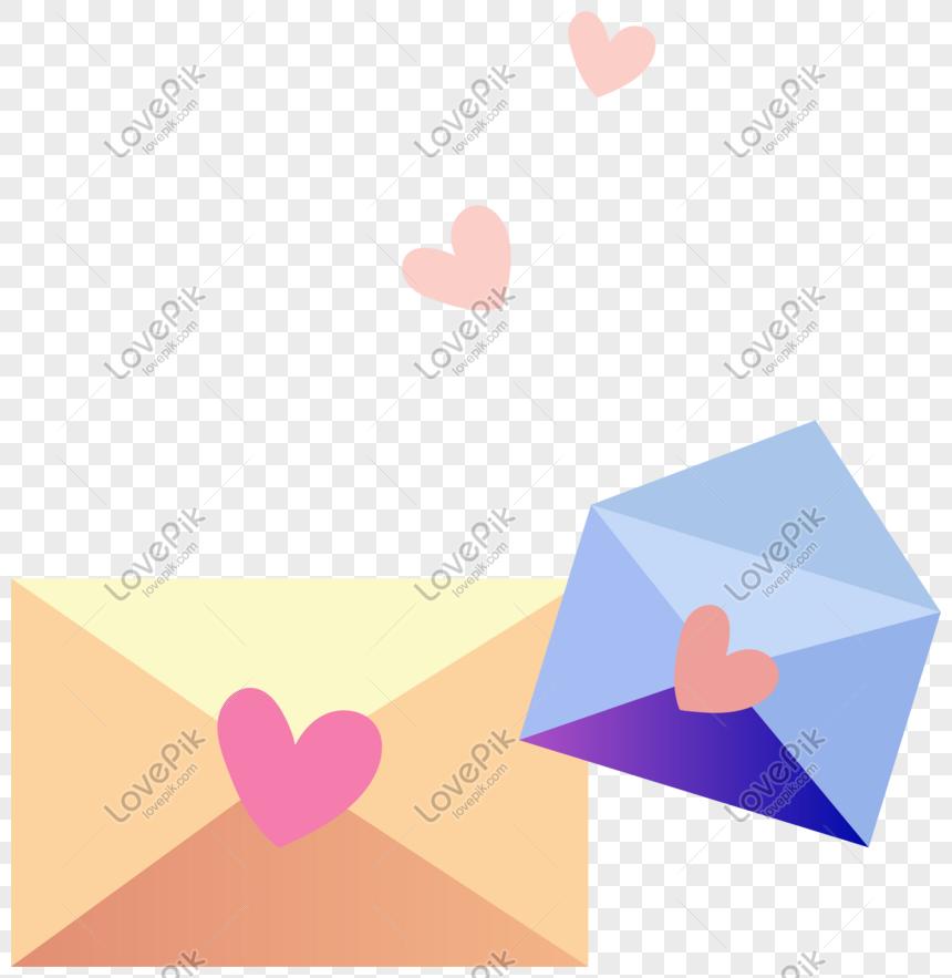 Vektor Amplop Menulis Surat Cinta Buku Elemen Dekorasi
