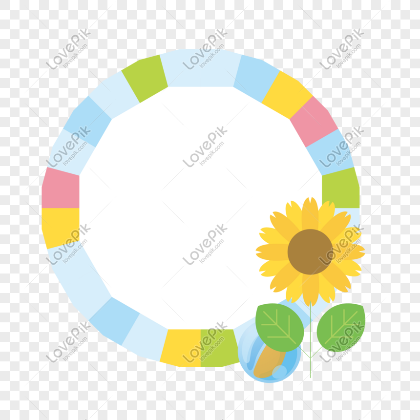 colored round label border png
