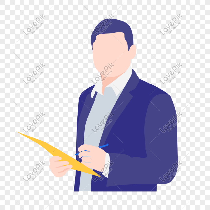 Man making notes icon free vector illustration material png