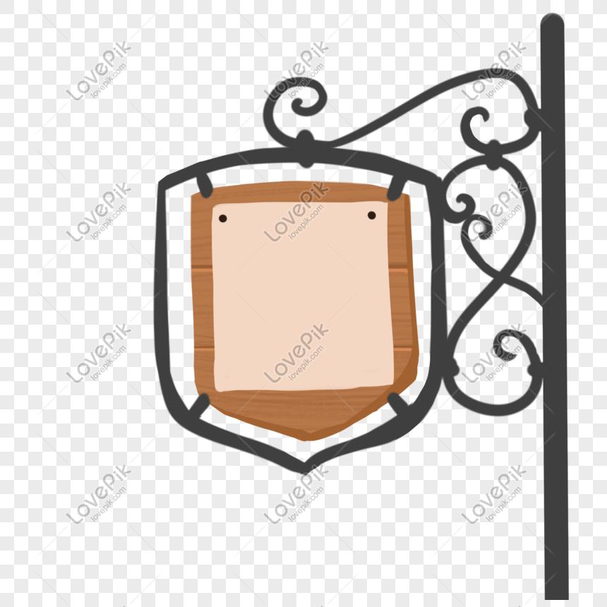 花紋木牌吊牌廣告牌 png
